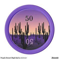 Purple Desert High End Poker Chips