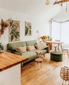 "Alice on Instagram: ""Thoughts on green sofa? Image: @szafeczka #houseenvy #myhometrend #interiordesing #homedecorideas #currenthomeview #interiorforall…"""