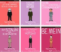 communism valentines day cards. hilarious. leon trotsky thinks you're hotsky :)