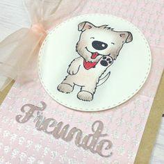 cute dog stamp designed by Baerbel Born for Kulricke, Germany  niedlicher Motivstempel mit Hund, gestaltet von Baerbel Born für die Firma Kulricke, Stanzen und Stempel