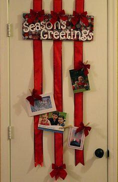 decorar la casa con tarjetas de navidad - Buscar con Google