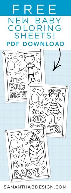 Big Brother Coloring Page scrapbooking journaling paper