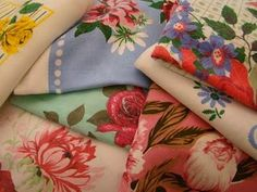 Vintage fabric = pretty.