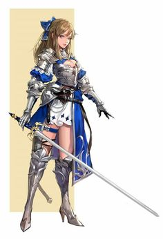 Pretty knight, like a remixed saber, could be a cool char