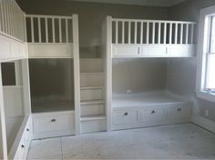 build a builtin loft | Built in bunk beds-image-464581544.jpg (This is amazing, could be good for any kids' rooms)