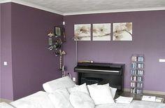 woonkamer paarse muur - Google zoeken