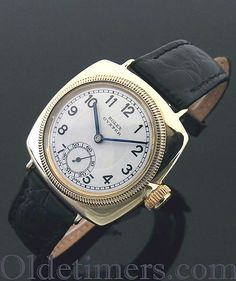 An early 9ct gold cushion vintage Rolex Oyster watch, 1933