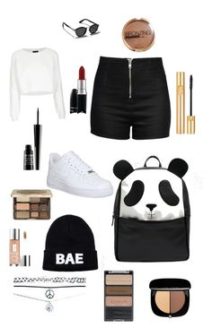 """#38"" by b3ttyw3ldon on Polyvore featuring Topshop, Love Moschino, NIKE, ASOS, Domo Beads, Abercrombie & Fitch, Wet Seal, Too Faced Cosmetics, Yves Saint Laurent and Wet n Wild"