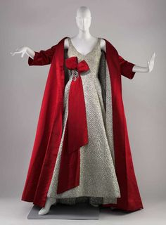Evening ensemble, silk and metallic with rhinestones and metal, Arnold Scaasi designer, American, 1958