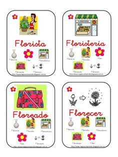Baraja familias lexicas Dual Language, Spanish Language, Deaf Children, Spanish 1, Word Families, Teaching Materials, Task Cards, Education, School