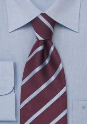 Herrenkrawatte XXL Linien silberblau violett günstig kaufen