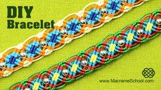 Colorful Macrame Wave Bracelet Tutorial