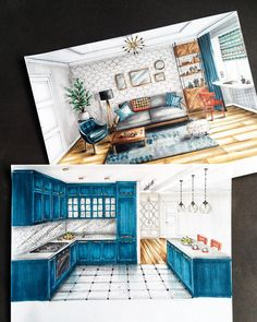 An interior architectural project the most important aspects for your interiors by ak interior architects is part of architecture Drawing House Projects - Here you will find photos of interior design ideas Get inspired! Interior Architecture Drawing, Interior Design Renderings, Architecture Concept Drawings, Drawing Interior, Interior Rendering, Interior Sketch, Architecture Design, Interior Design Portfolios, Portfolio Design