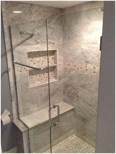 Glass Shower Enclosures — Bathroom Renovations Bar for towels on outside of door Large Bathrooms, Amazing Bathrooms, Bathroom Small, Chic Bathrooms, Master Bathroom, Glass Shower Enclosures, Modern Shower, Big Shower, Bathroom Modern