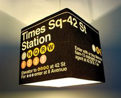 cool Times Square hanging lamp
