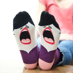 These hilarious socks are perfect for the friend you have who secretly (or not so secretly?) wishes she was a professional singer.