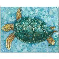 Aqua Sea Turtle Artwork - Outer Banks Trading COmpanuy
