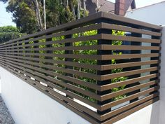 horizontal wood panel fence 2ft - Google Search