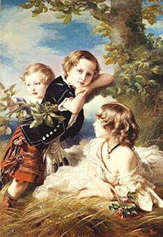 Louise with her brothers: Arthur and Leopold.