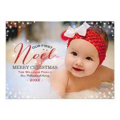 baby's first christmas card photo ideas - Hľadať Googlom