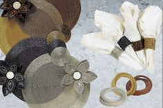 Set of Placemats with Napkin rings