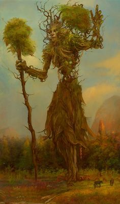 Fantasy, Daydreams and Nightmares Plant Monster, Monster Art, Tree Monster, Forest Creatures, Magical Creatures, Fantasy World, Dark Fantasy, Nature Spirits, Creature Concept