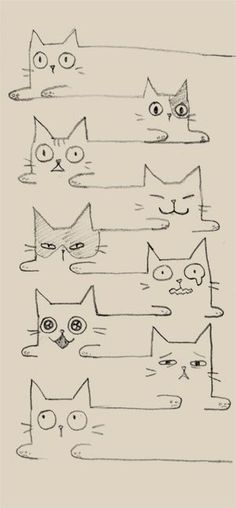 Super Ideas For Cats Drawing Ideas Doodles Kitty I Love Cats, Crazy Cats, Doodles, Cat Drawing, Drawing Ideas, Doodle Art, Cat Doodle, Tangle Doodle, Doodle Ideas