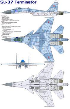 Sukhoi Su-37 | Sukhoi Su-37 Flanker-F by bagera3005