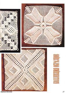 Mantas tejidas al crochet diagramas