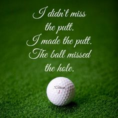 """""""It's not my fault, its the ball's fault."""" Tag your friend! Motivational Words, Inspirational Quotes, Golf Shop, My Fault, Putt Putt, Golf Humor, Golfers, Golf Tips, Golf Ball"""