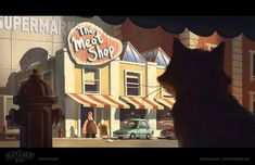 ArtStation - The Butcher Biff, Andy Ivanov Cartoon Background, Animation Background, Character Illustration, Digital Illustration, Cartoon House, 3d Cartoon, Concept Art Tutorial, Comic Layout, Color Script