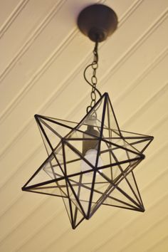 Star lamp from our kitchen ceiling