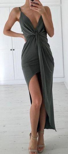Khaki Maxi Dress Source