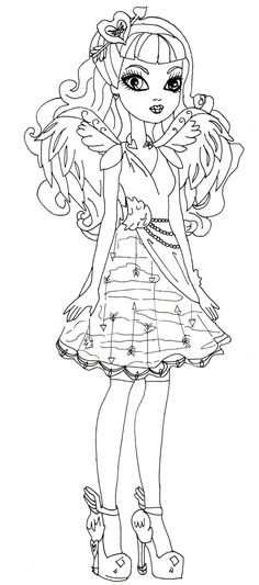 Monster High Colouring Pages A4 : Kara realm: ever after high coloring pages cool printables