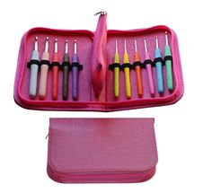 Amazon.com: Crochet Hook Kit w/ Ergonomic Handles 11 Hooks & 31 Accessories. Perfect Set For Comfort & Works Best For Arthritic Hands! Deep Throat, Sharp and Smooth Needles Designed for Knife and Pencil Holder. Packed in Sturdy Travel Case with Removable Pocket!