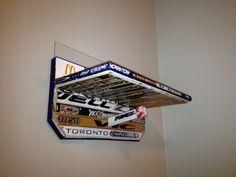 Hockey stick shelf.