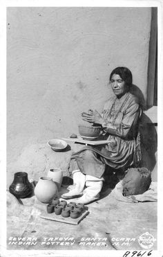 Severa Tafoya, Santa Clara Indian Pottery Maker, New Mexico, 1935