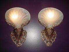 *Art Nouveau wall sconces | vintagelights.com | by VintageLights.com