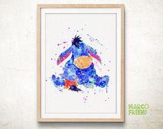 Disney Winnie The Pooh Eeyore Aquarell Art Print von MarcoFriend