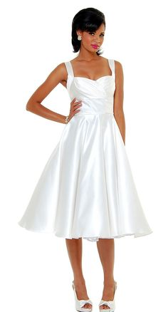 Happily Ever After Satin Pleated Swing Dress - Dresses - Womens | Blame Betty