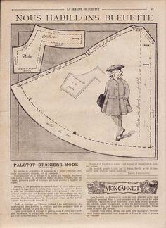PAR AMOUR DES POUPEES :: 1917 -02- Bleuette paletot dernière mode                                                                                                                                                                                 Plus