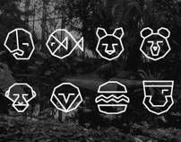 Zoo Icons by Mallory Ming, via Behance