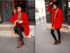 Red in Paris (by Christina Caradona) http://lookbook.nu/look/4644779-Red-in-Paris