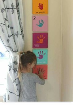 Hand prints. Can be used for height chart.