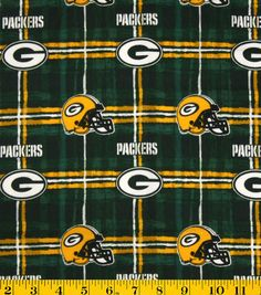 Green Bay Packers NFL Flannel Fabric