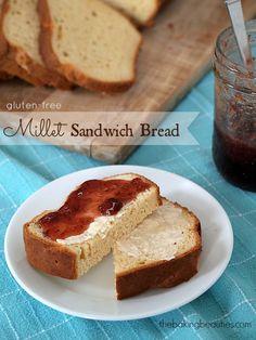 Gluten free sandwich bread! Got to use my millet flour!
