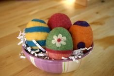 Needle Felting Easter Eggs - Free Felting Tutorial | Living Felt--How to needle felt an egg shape.