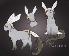 Eevee —> Wireon Steel Evolves from Eevee when leveled up while holding a Metal Coat. Source. Artist: Rueme