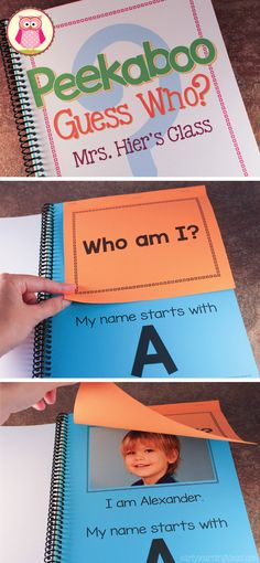 """Name activities for preschool, pre-k, and kindergarten. Make a custom ABC lift-the-flap name book for your class with this template. """"This is an awesome book when put together! My kiddos are still looking at it after 6 weeks of school!"""" https://www.teacherspayteachers.com/Product/Name-Activity-Template-for-Class-ABC-Lift-the-Flap-Book-1254208"""