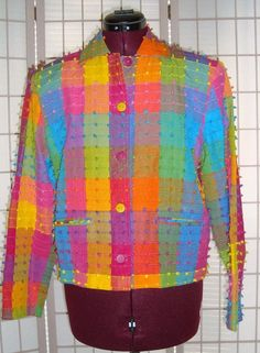 Cute Ana's Fashions Sz S Multi Color 80% Cotton Button Front Short Jacket #AnasFashions #BasicJacket